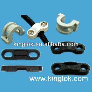 Double Screw Hole Wire Mount Wire Saddle Plastic Wall