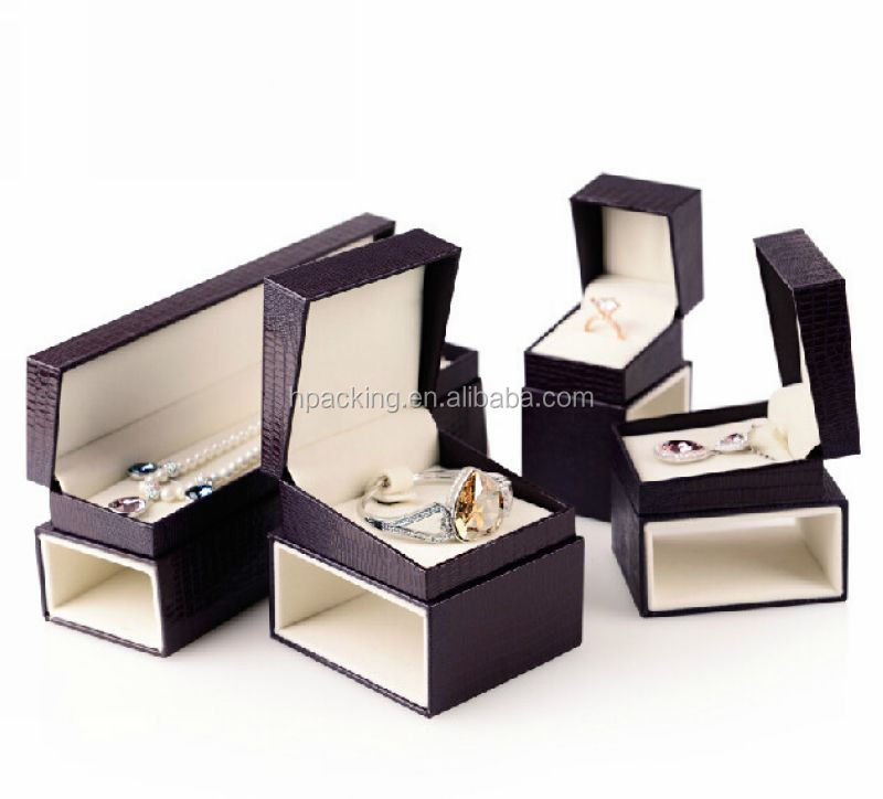Luxury Leather Plastic jewlery packing box