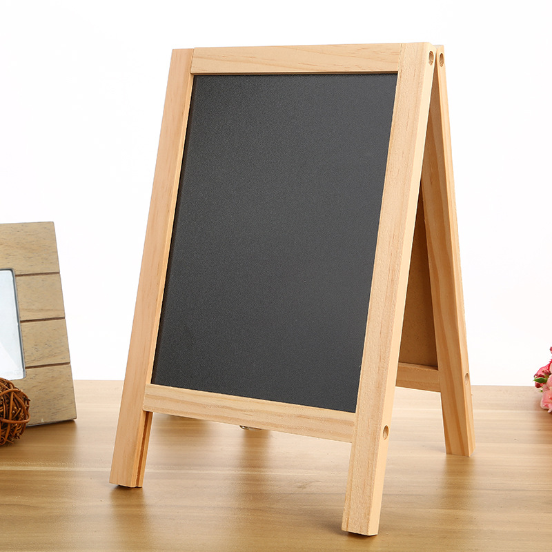 Mini Wood Chalkboard A Frame