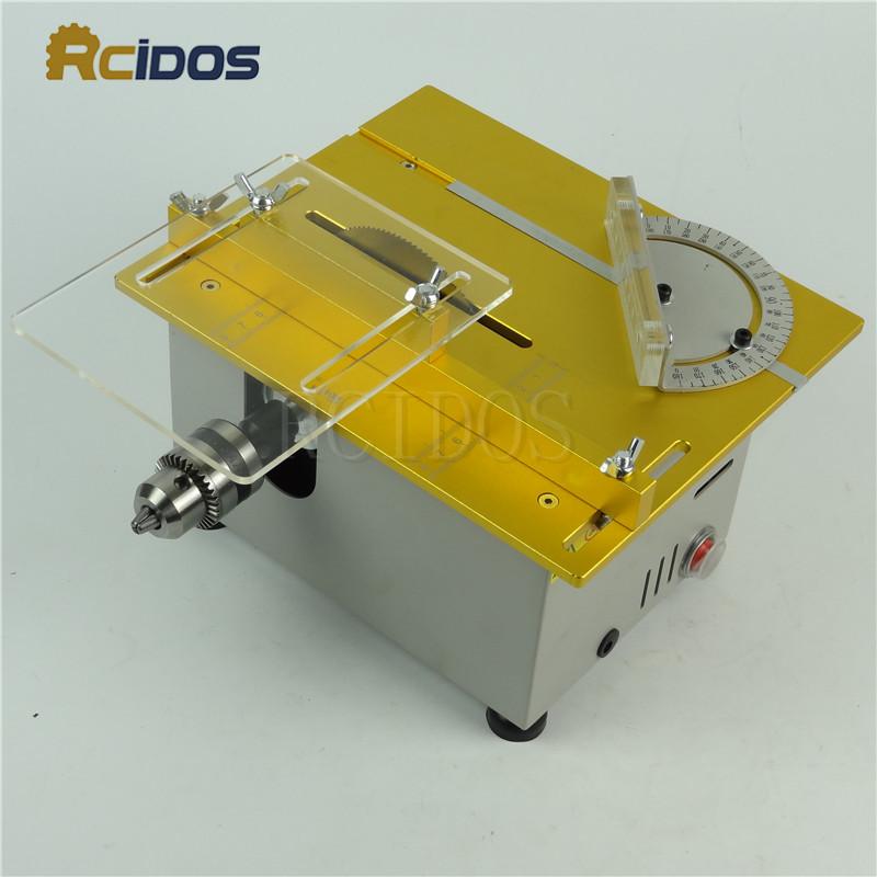 T6 RCIDOS Mini table saw/12V-24V portable DIY wood Cutting machine,Saw  blade height adjustable,metal/Acrylic cutter,polish Machi