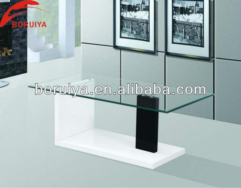 2017 new modern living room furniture wooden tea table - Glass centre table for living room ...