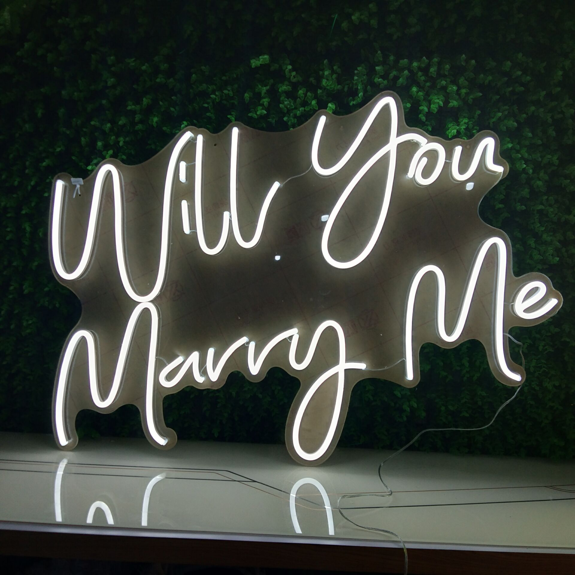 Will you marry me wedding birthday party Event decoration custom acrylic LED edge letter sign, 3D open LED neon sign letter