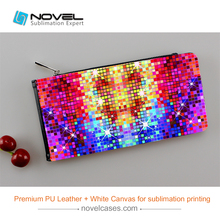 2017 New Arrival Sublimation Man simple leather card case,Canvas case for custom printing