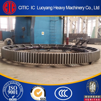 Cement mill girth gear, large gear ring with diameter of 15m avaliable