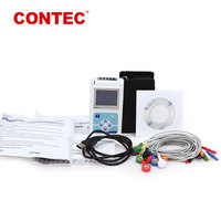 Contec TLC5000 ce handheld 12 lead Holter Monitor free software 24 hours recorder