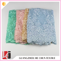 WHF-3806 Hechun Cotton Sarees Embroidered Tulle Lace for Women's Dresses