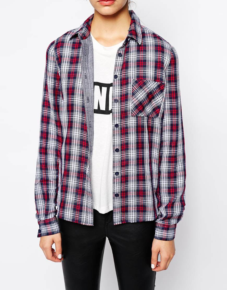 Shirt design new look - New Look Double Facing Check Women Tops And Blouses