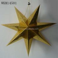 2015 Decorative Christmas hanging paper star lantern pattern