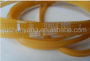 High quality Japan BANDO yellow PU timing belt endless and seamless