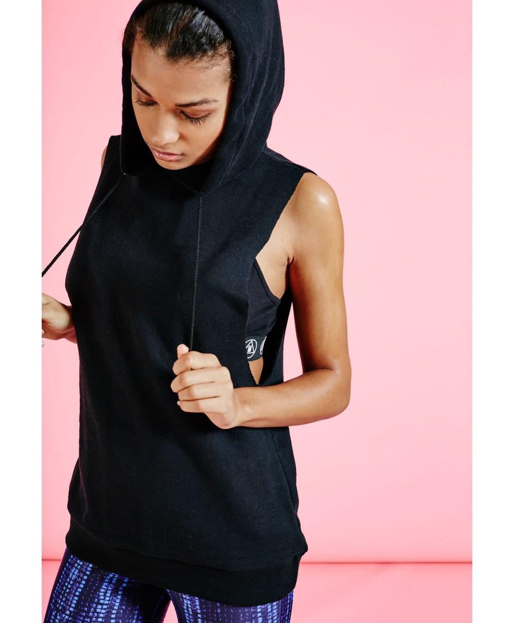 e3fe66150bc Trade Assurance Yihao 2015 Women Drop Armhole Sleeveless Sportswear Hooded  Gym Wear Hoodie Sweatshirt