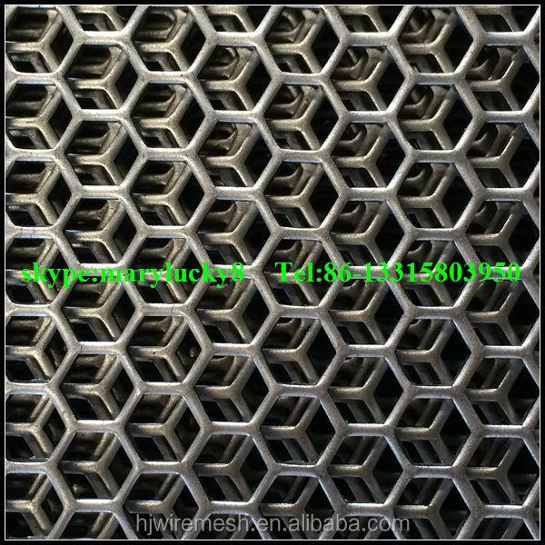 Hexagonal Hole Perforated Sheet Metal Hexagon Perforated