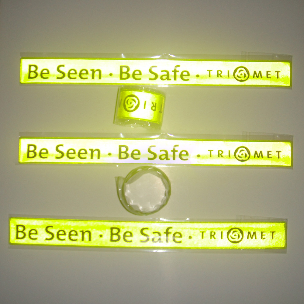 Lime Yellow Cycling Night Glow Reflective Slap Wrap Bracelets Wristbands