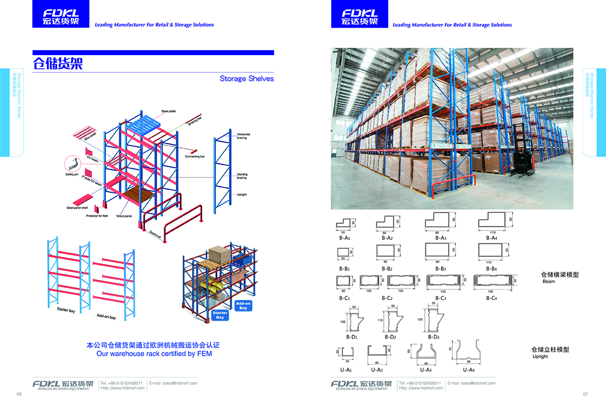 Heavy duty Racking system, pallet rack
