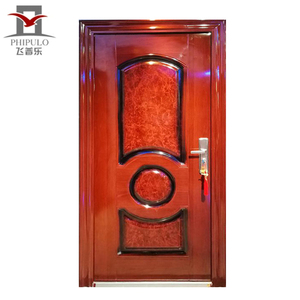 Golden supplier design residential lowes security steel door honeycomb flush