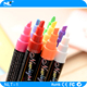 Newlight 6mm nib highlighter marker pen / erasable multi-color ink fluorescent highlighter/LED writing board markers