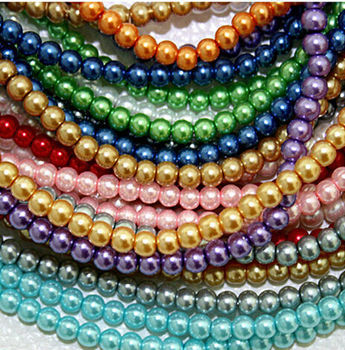 2019 custom jewelry  high quality and colorful glass pearl bead  for jewelry making