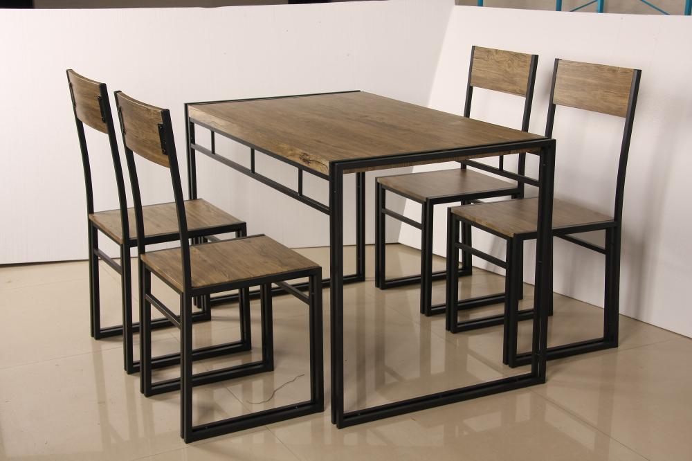 Nieuwe industral eettafel stoelen moderne houten eettafel set