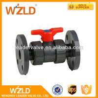 WZLD Professional Manufacturer API Standard Handle Plastic Cover Foot PVC Ball Valve