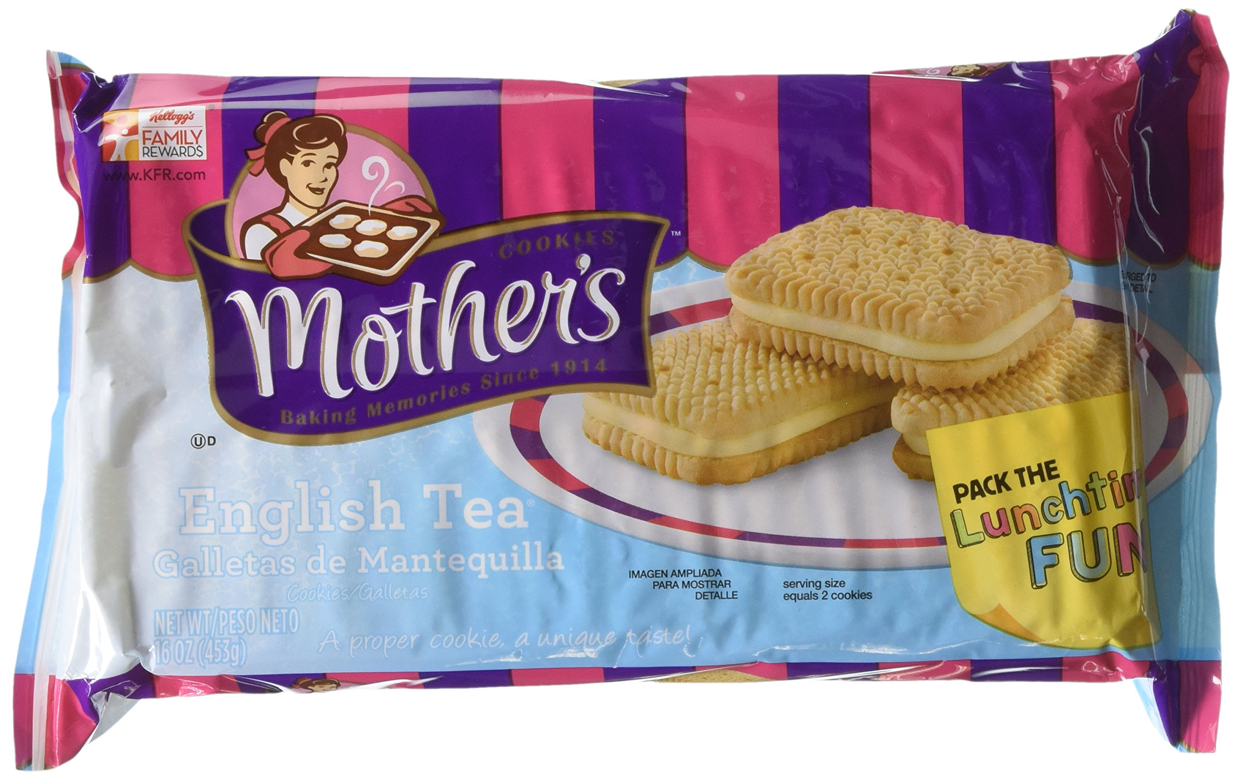 Mother's English Tea Sandwich Cookies, 16-Ounce Packages (Pack of 4)