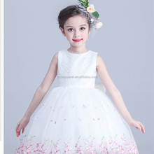 Princess style charming pure color sleeveless party princess frock design