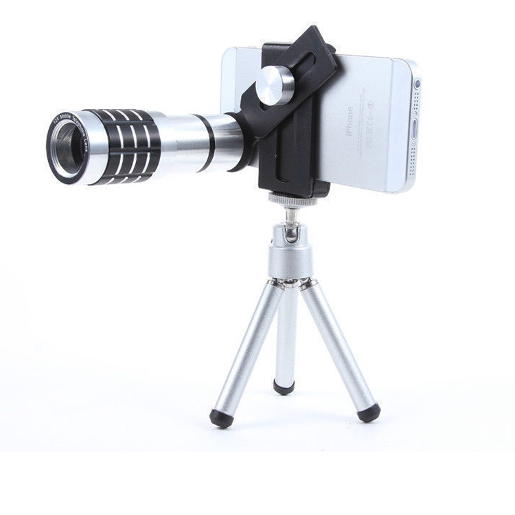 Clip universale 12X Zoom Ottico Mobile Phone Telescope Lens Clip per iPhone Samsung HTC Smart phone