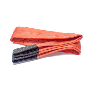 2Mx150mm Red WL 5000KG Polyester Flat Eye Pipe Lifting Belt Sling