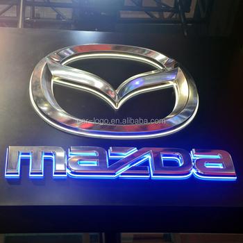 Acrylic Backlit Led Car Logo With Brand Namesacylic Car Logo - Car signs and namescar logo logos pictures