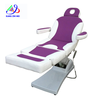 CE approved purple color electric beauty facial bed chair with three motors 8808