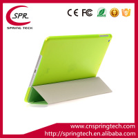 super slim auto sleep wake Magnet Smart case cover for ipad mini 1/2/3 leather case green color Plastic protective