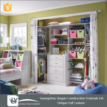 Fair price furniture closet built-in wooden wall wardrobe design for children bedroom