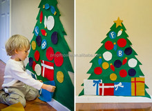 2017 new fashion hot handmade crafts wholesale wall ornaments felt decoration of Christmas sweet tree for kids made in China
