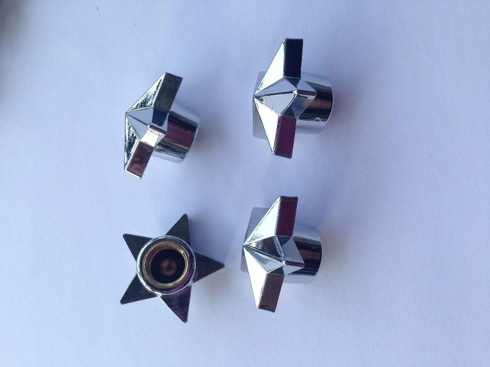 400 шт./лот, Серебро цвет хром star дизайн колесо автомобиля шина клапан кепка, Воздушный пыль кепка стволовых