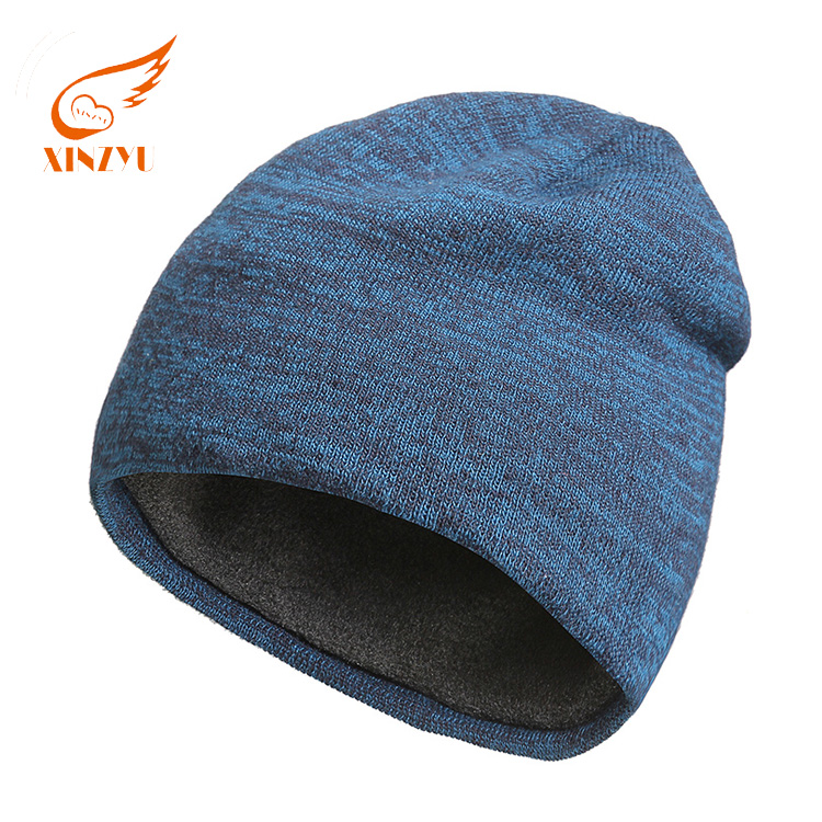 Wholesale Winter Cable Plain Acrylic Knit Hat Custom Unisex Without Visor Beanie Cap