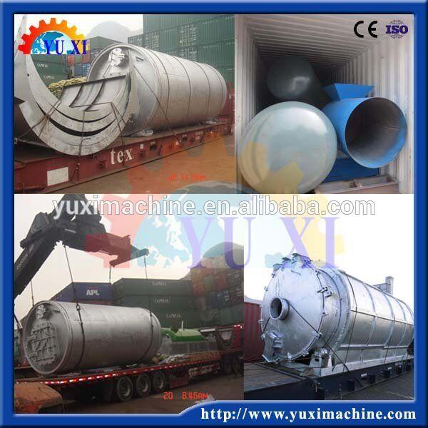 Huile de Pyrolyse De Pneu de rebut À Diesel Équipement de Distillation De Pneus Usés À L'huile Machine de Recyclage De Plastique Usagée