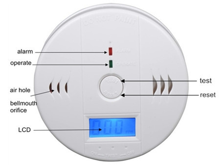 Co614b plug-in carbon monoxide alarm with digital display.