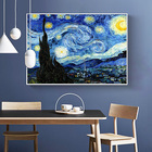 Hot Sale Van Gogh Starry Night Decorative Painting Sofa Background Hanging Painting Oil Picture For Wall Decor