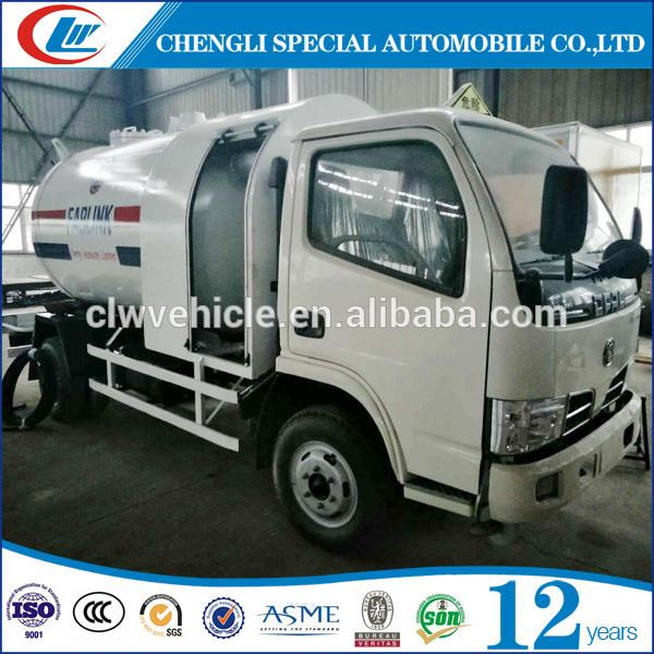 Cheap Price 5CBM LPG Filling and Transportation Tank Truck For Africa