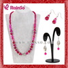 beautiful artificial coral beads necklace jewelry set