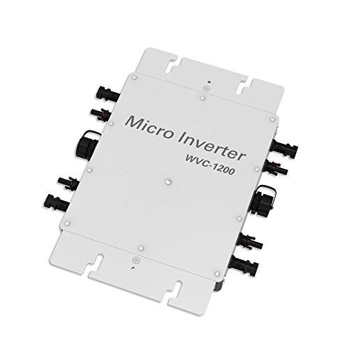 Y/&H 300W Grid Tie Inverter MPPT Waterproof Multiple Parallel Stacking DC22-50V Pure Sine Wave Inverter for 36V Solar Panel,Compatible with AC230V Power Grid