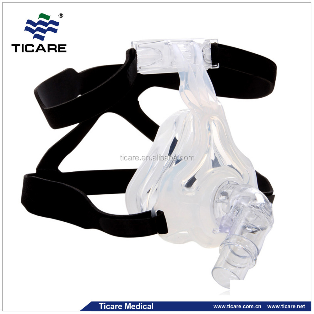 comfortable CPAP full face mask with silicone headgear