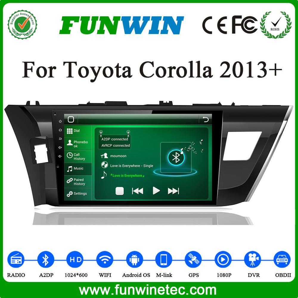 Funwin Factory Price touch screen car <strong>tv</strong> dvd player for <strong>toyota</strong> <strong>corolla</strong> 2013 2014 2015 2016 car gps navigation multimedia radio
