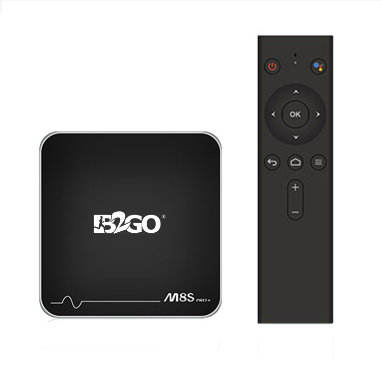 OEM caja de Google TV M8S PRO + Android TV OS y control remoto por voz S905W Android 7,1 2 GB + 16 GB Widevine 1 HD Netflix 4 K Youtube