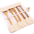 7Pcs/set Wholesale Outdoor Travel Camping Portable ECO Friendly Reusable Natural Organic Bamboo Flatware Cutlery Sets