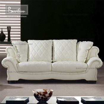 Fashionable European Style Living Room Use Leather Sofa Set 3 2 1 Seat