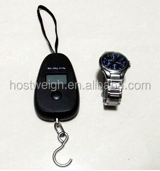 Egg type Mini digital luggage scale with One Button for All Functions, LED Light for Alert of Locking