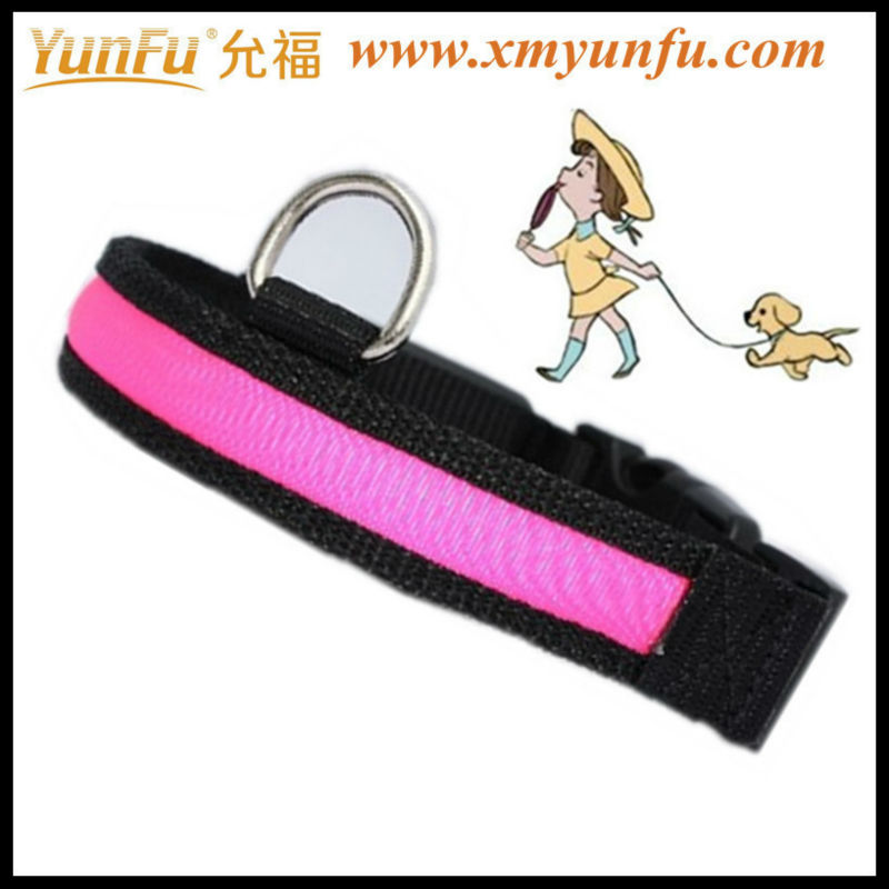 Cheap D Ring pink dog collar