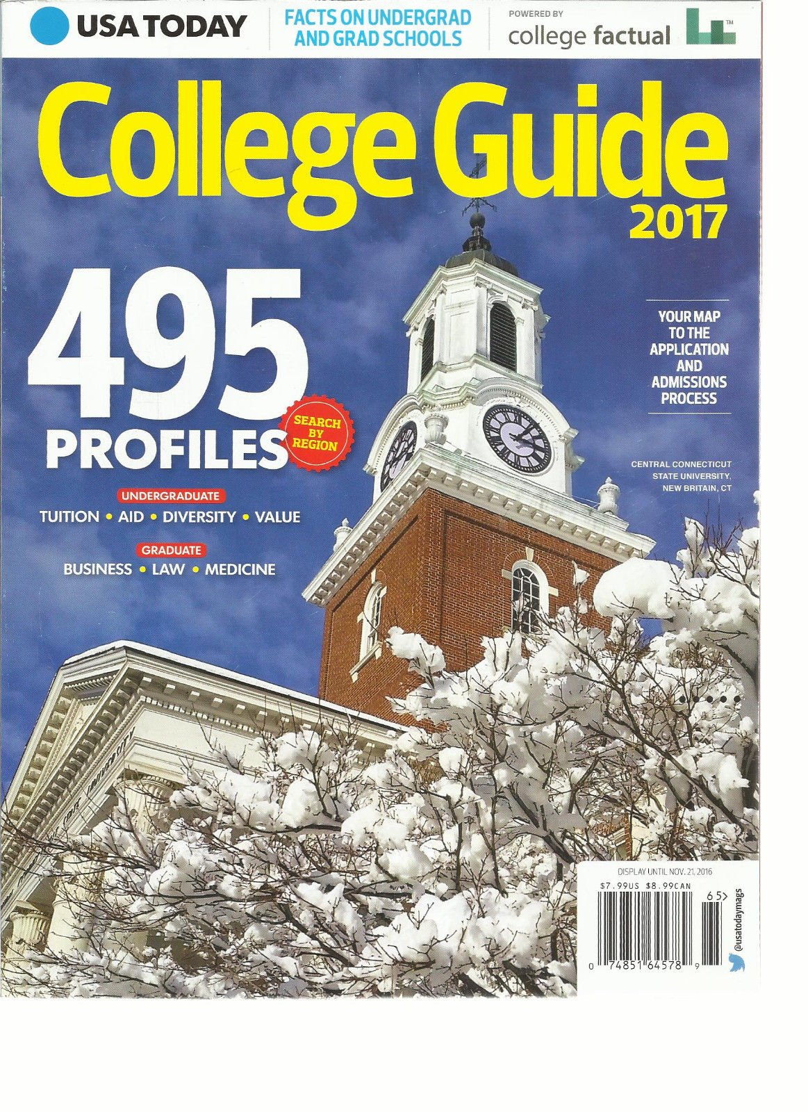 USA TODAY COLLEGE GUIDE, 2017 IN PARTNERSHIP WITH COLLEGE FACTUAL * 495 PROFILES