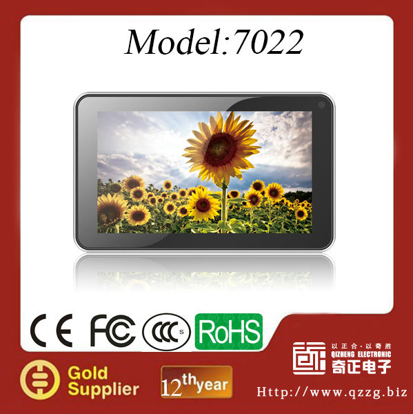 7inch Car Android 4.2 GPS navigation Capacitive Screen Dual Cameras DVR AV IN WIFI FMT Boxchips A13 512MB/8GB 2160P Video