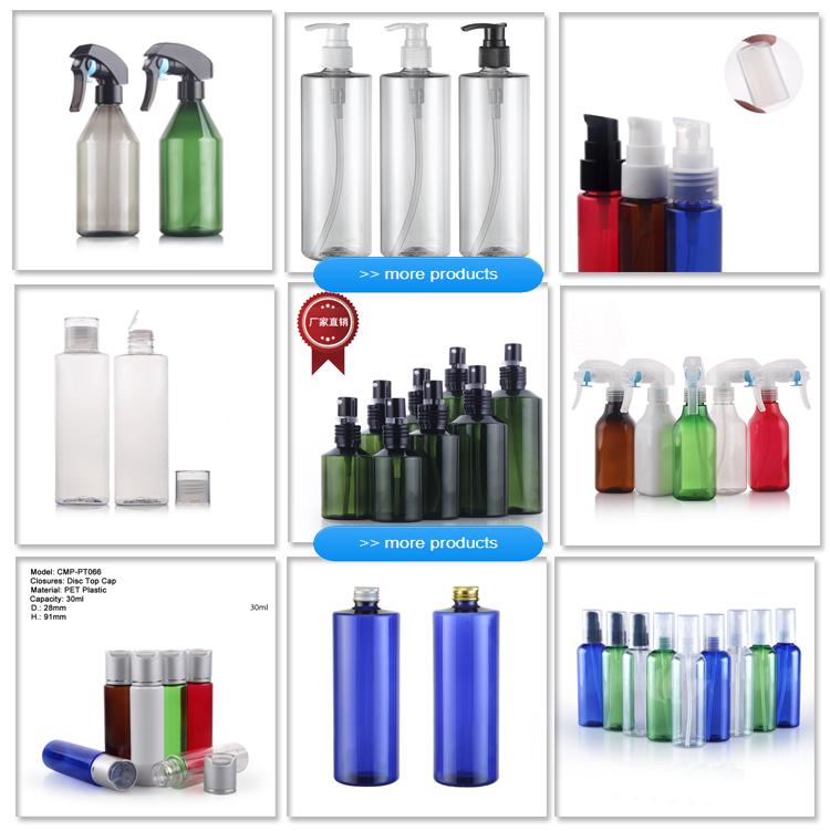 Leere 100 ml 100 ml Plastik-PET-Sprühflasche mit Sprühpumpe für Parfüm oder ätherisches Öl