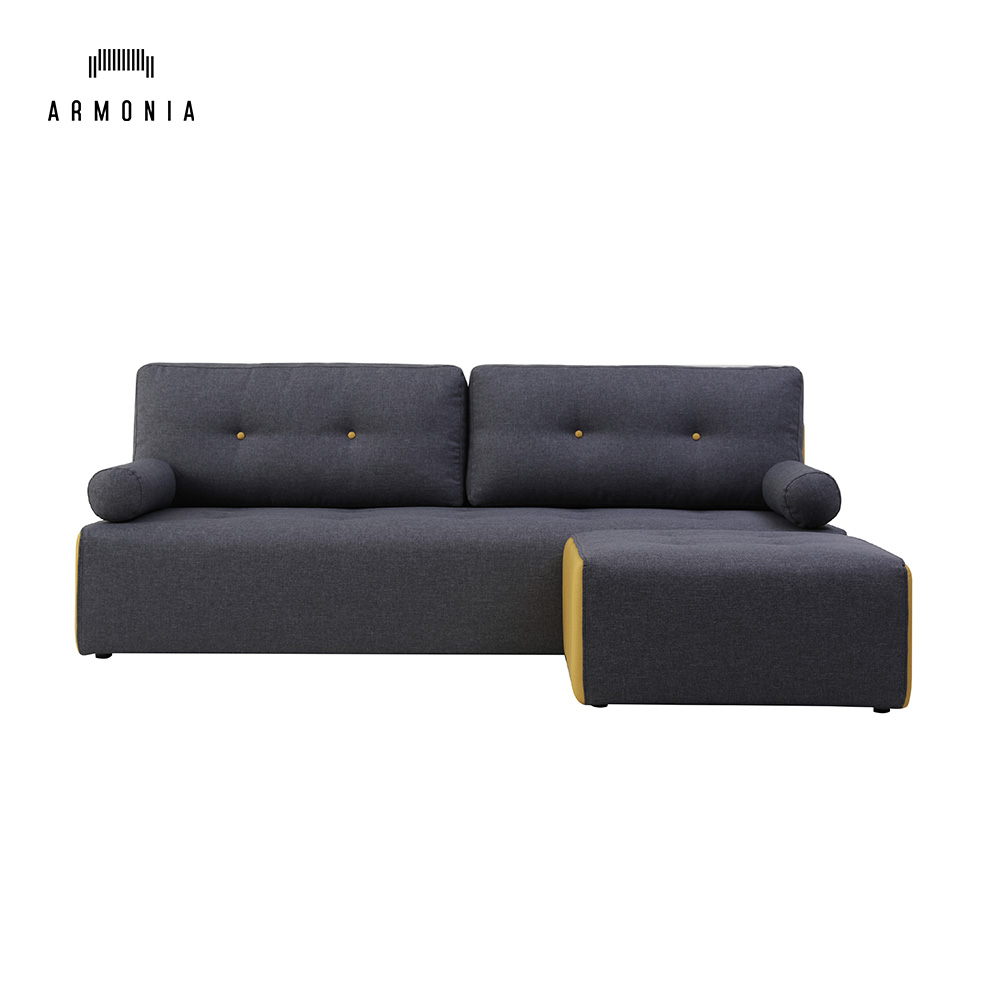 L Shaped Combination Footrest Chaise Sofa Parts Modern Black Sectional  Fabric Sofa Couch - Buy Fabric Sofa Couch,Sectional Sofa,Combination Sofa  ...